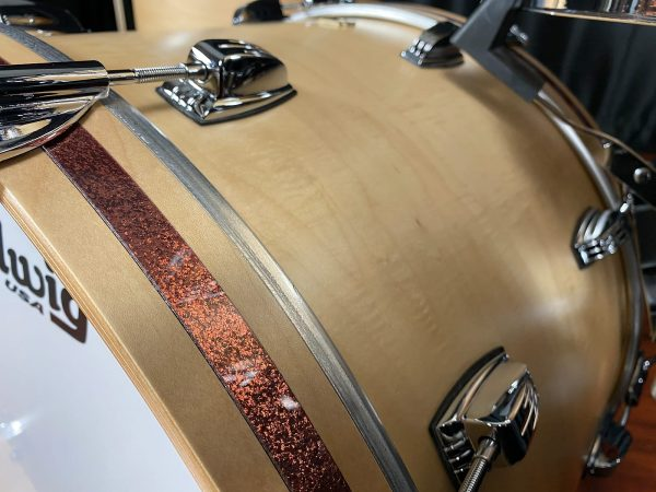 Ludwig classic maple natural satin bass hoop