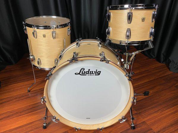 Ludwig Classic Maple Natural Satin 3pc Drum Set