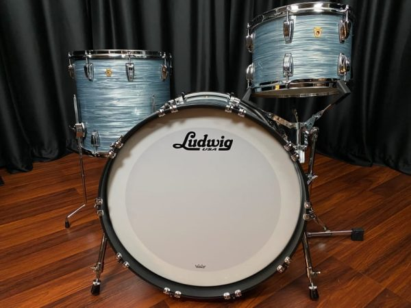 Ludwig Legacy Classic Vintage Blue Oyster Fab 3pc Drum Set