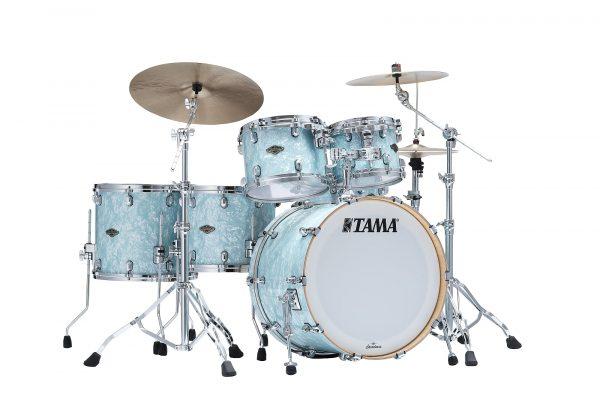 TAMA StarClassic Birch Walnut Ice Blue Pearl Front