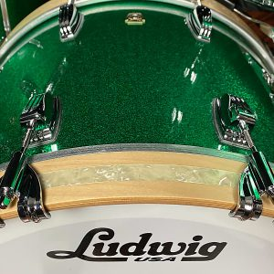Ludwig classic maple green sparkle fab bass