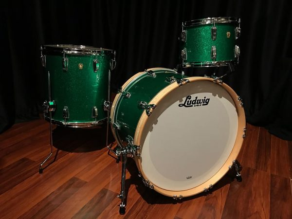 Ludwig classic maple green sparkle fab right
