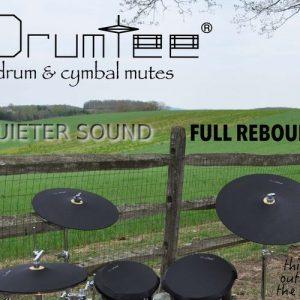 DrumTee Cymbal Mutes Quieter Sound Full Rebound