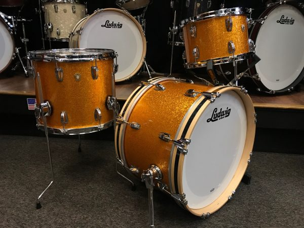 Ludwig Classic Maple Stingray Gold Sparkle 3pc Kit