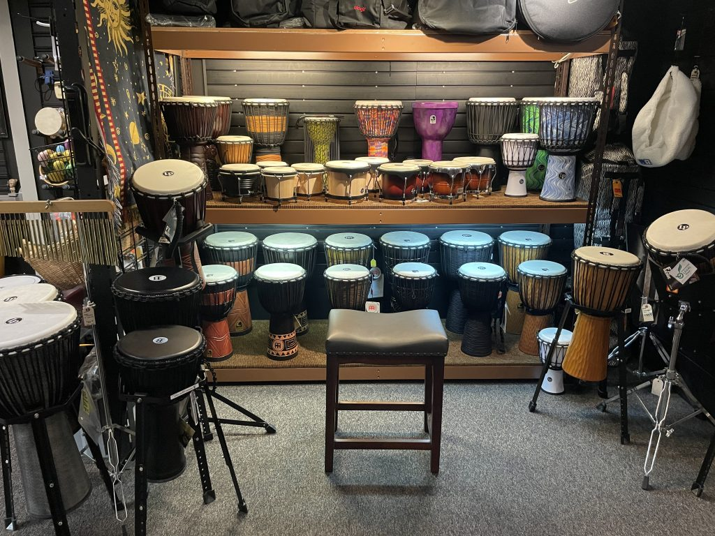 Djembe Drums and Bongos