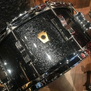Ludwig Classic Maple 6.5x14 Black Sparkle Snare Drum
