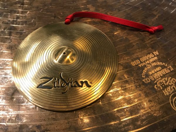Zildjian Metal Cymbal Ornament w/ Stamp and Hanger Great Drummer Gift