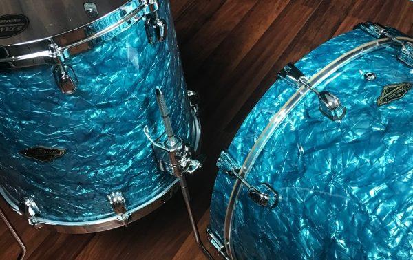 Tama Walnut Birch WBR32RZSTQP 3pc Turquoise Pearl set