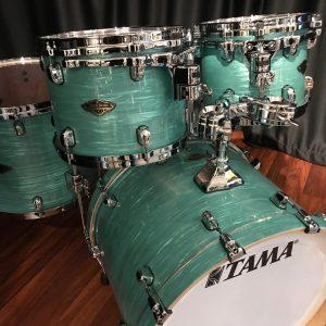 Tama Drums Starclassic Walnut / Birch Surf Green Silk 4pc Kit WBR42S SGS