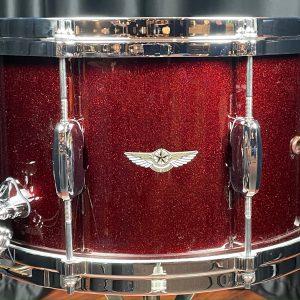Tama Drums Star Maple 8x14 Dark Burgundy Metallic Snare Drum
