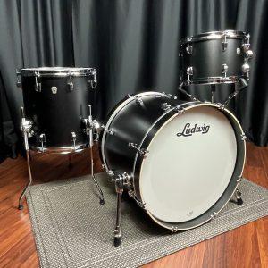 Ludwig NeuSonic 3pc Downbeat Drum Set Black Velvet