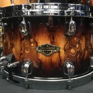 Tama drums Starclassic Walnut / Birch 8x14 snare drum Molten Brown Burst
